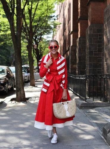 nordstrom shirtdress red stripes