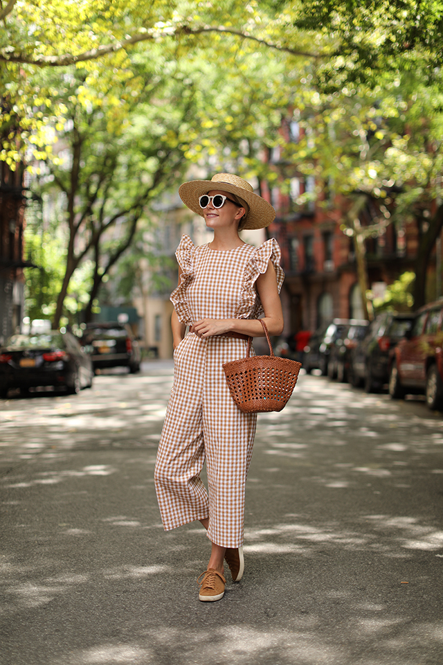 gingham jumpsuit under $100