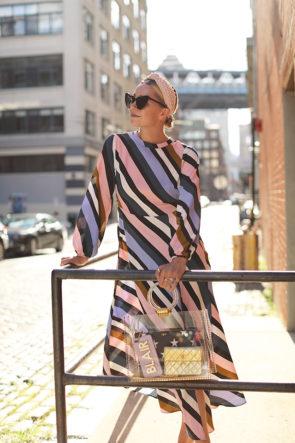 stripe topshop dress