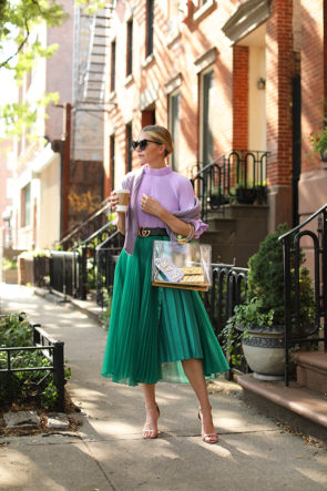 green and lilac for summer