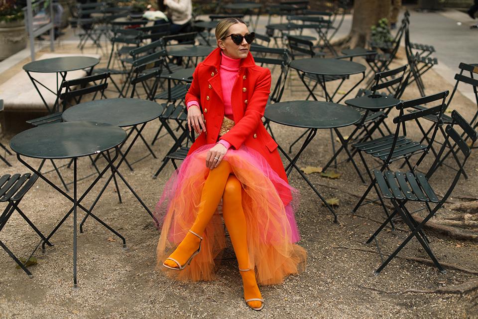 neon tulle skirt