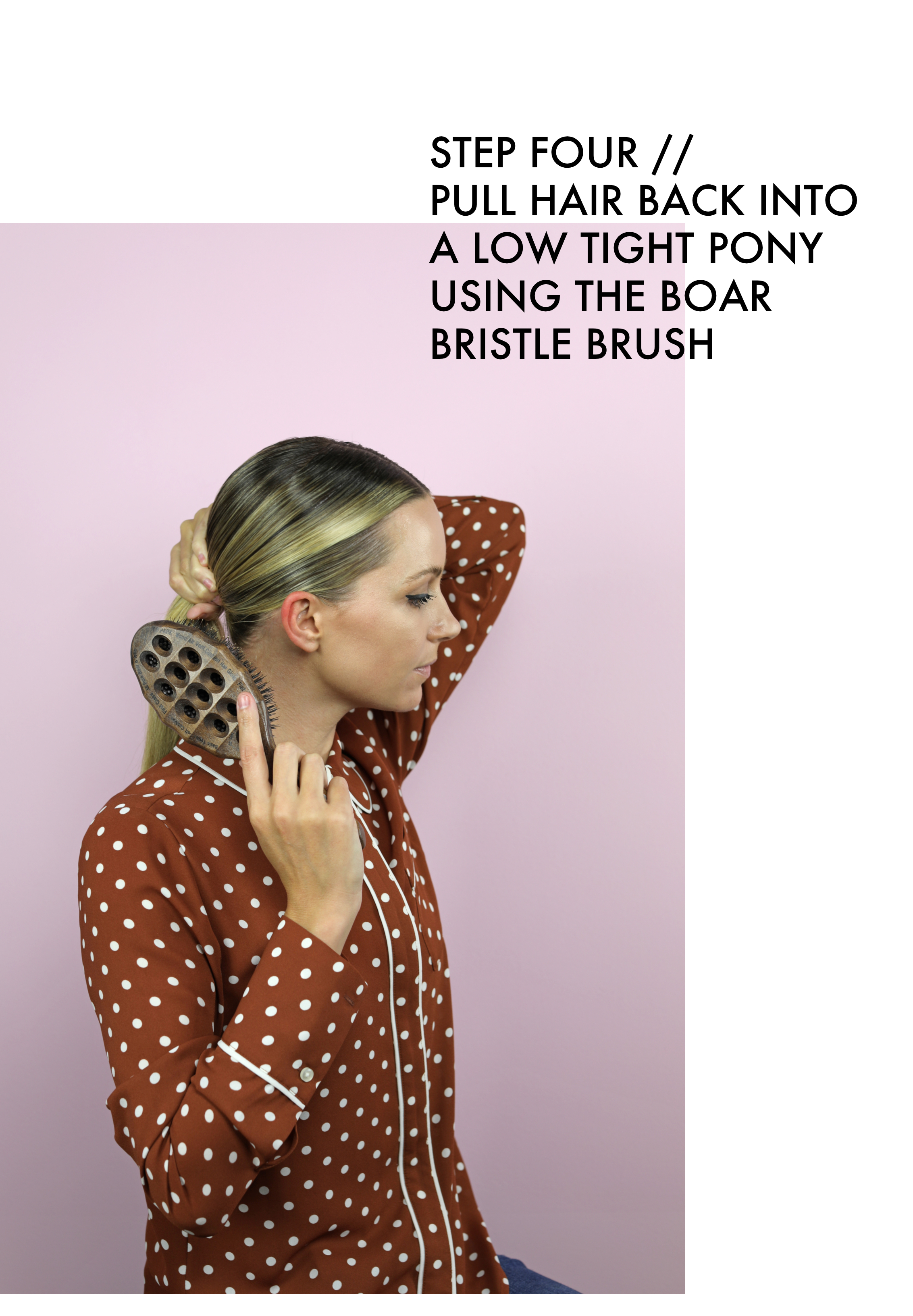 low sleek bun tutorial atlantic-pacific