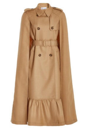 Belted Wool Cape Coat