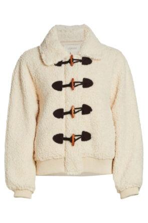 Faux Shearling Toggle Jacket