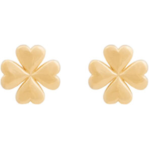 Lucky Leaf Gold Studs