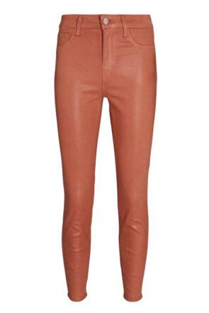 Mocha Coated Skinny Jeans