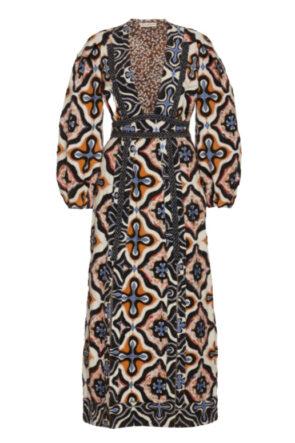 Patchwork Cotton Midi Dress
